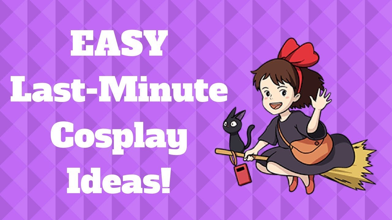 Easy Last Minute Diy Cosplay Costumes Happy Halloween Youtube