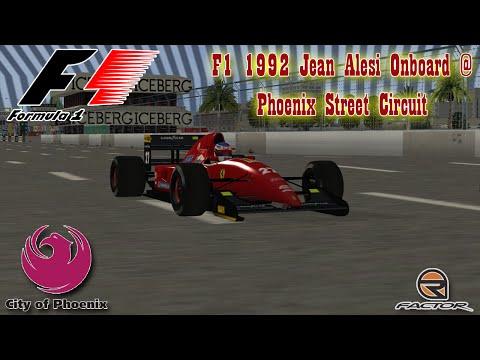 F1 1992 Jean Alesi Onboard @ Phoenix Street Circuit (rFactor)