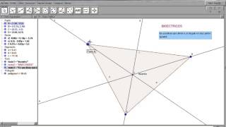 Bisectrices de un triángulo con Geogebra