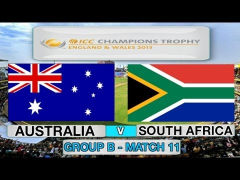 (Cricket Game) ICC Champions Trophy - Australia v South Africa (Group B Match 11)