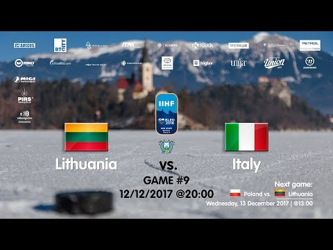Lithuania - Italy #IIHFWJC1B #Bled
