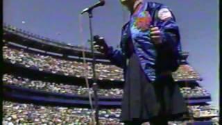 Cyndi Lauper nails National Anthem PERFECT!!