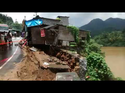 Building Collapse in Flood  Kallarkutty dam