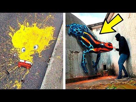 Самые Невероятные Уличные Граффити, Которые Поднимут Вам Настроение