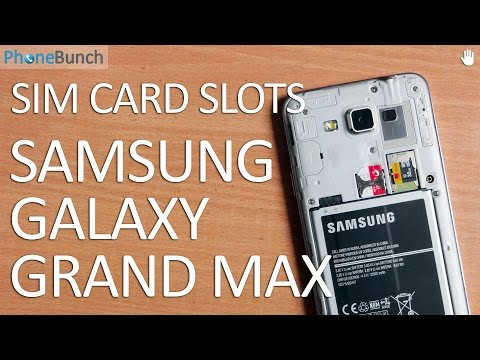 Samsung Galaxy Grand Max Dual SIM Card and MicroSD Card Slots