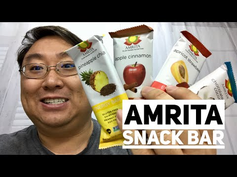 Pineapple Chia Healthy Protein Superfood Snack Bar by Amrita Taste Test
