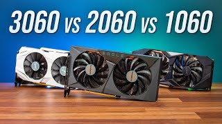 RTX 3060 vs RTX 2060 vs GTX 1060 - 3 Generation GPU Comparison