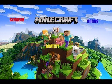 Presentation Du Serveur ARGOS ! Serveur Minecraft GRATUIT! Ouvert A TOUS