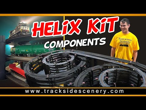 Build a helix with Helix Kit Components from Trackside Scenery