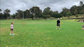 David Warner Playing Cricket with Family (Wife & Daughters)