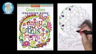 Design Originals Good Vibes Adult Coloring Book Thaneeya McArdle Bloom - Family Toy Report
