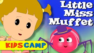 Little Miss Muffet | Nursery Rhymes | Popular Nursery Rhymes by KidsCamp