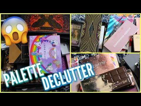 Eyeshadow Palette Declutter: Makeup Declutter 2018