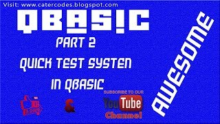AWESOME: HOW TO CODE QUICK TEST SYSTEM IN QBASIC - PART 2