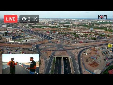 DRIVING THROUGH THE NEW MOTORWAY-TEMA INTERCHANGE LIVE ON KOFI TV