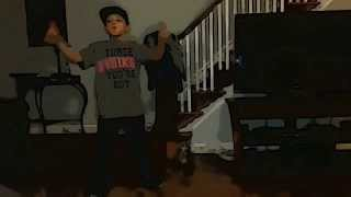 Jahmir dancing to chris brown bassline