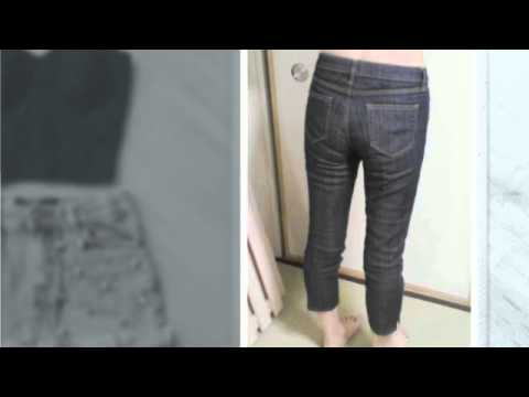 how to make high waisted shorts out of regular jeans - YouTube