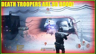 Star Wars Battlefront 2 - Elite Death Trooper unit takes Hoth! | Who needs Villains when you\x27re a DT