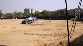 Tata Hexa 4x4: Crossing a custom designed ramp