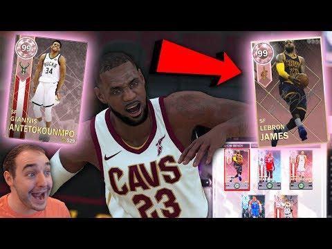 NBA 2K18 My Team PINK DIAMOND LEBRON JAMES IS TOO NICE! MONSTER CARD!!!