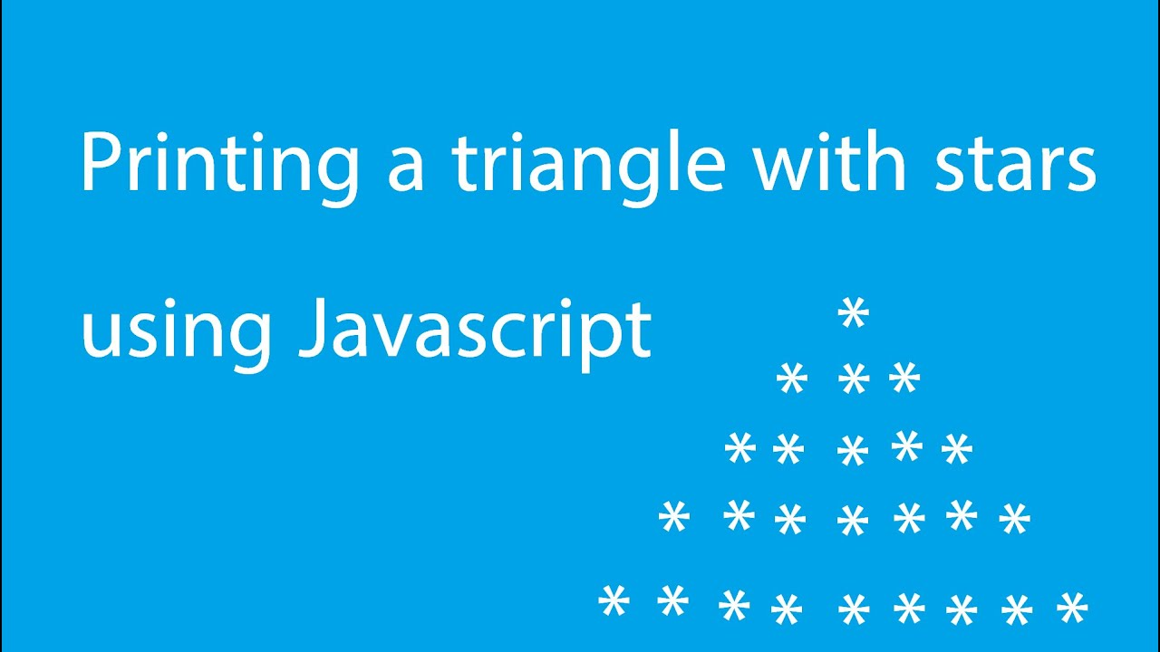 Printing a triangle with stars in javascript (Davit Sargsyan)
