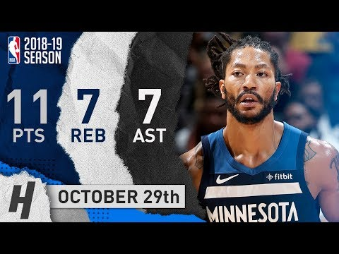 Derrick Rose Full Highlights Wolves vs Lakers 2018.10.29 - 11 Pts, 7 Reb, 7 Assists