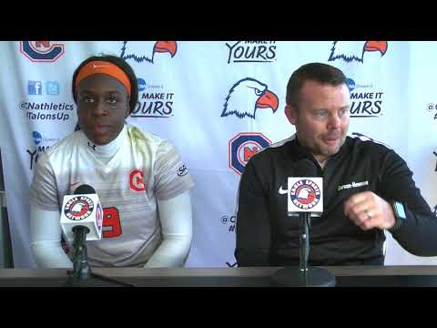 Carson-Newman Women's Soccer: Simon Duffy and Magda Mosengo post UWF press conference 11-19-17