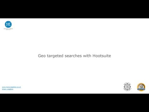 Geo targeting Twitter searches with Hootsuite.