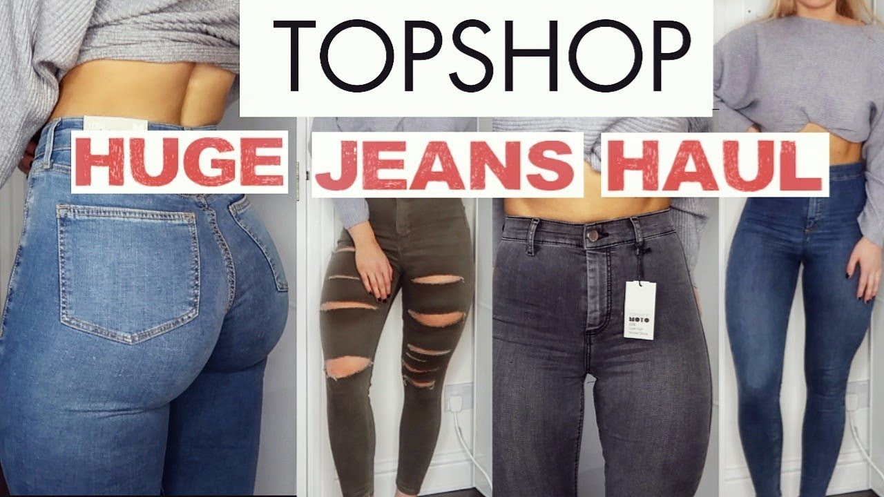 0193033f42a THE MOST FLATTERING TOPSHOP JEANS   HUGE TRY ON HAUL - YouTube
