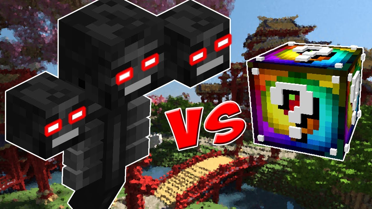 Super Wither Vs Lucky Block Spiral Minecraft Lucky Block