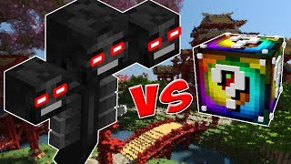 SUPER WITHER VS. LUCKY BLOCK SPIRAL! (MINECRAFT LUCKY BLOCK CHALLENGE)