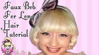 Faux Bob Style For Long Hair Tutorial - Violet LeBeaux