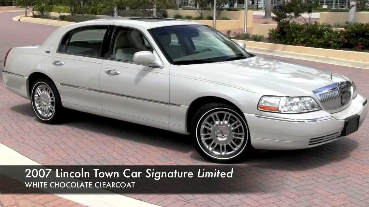 2007 Lincoln Town Car White Chocolate Tricoat Gulfstream Motorcars
