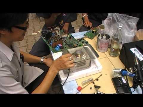 วิธีการถอดอุปกรณ์อิเล็กทรอนิกส์(หม้อต้มตะกั่ว1)