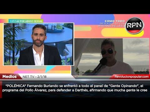*POLÉMICA* Burlando se enfrentó a todo el panel del Pollo Álvarez y volvió a defender a Juan Darthés
