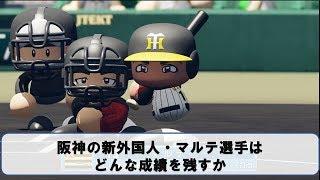 阪神の新外国人マルテ選手はどんな成績を残すか【パワプロ2018】