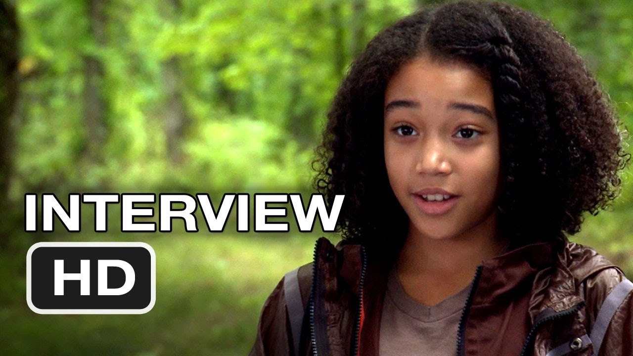 The Hunger Games - Amandla Stenberg Interview (2012) HD ...