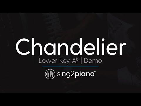 Chandelier (Lower Key Ab - Piano Karaoke Demo) Sia