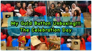 Gold Button Unboxing | Celebration Time | Thank you All | Dipika Ki Duniya| Dipika Kakar Ibrahim
