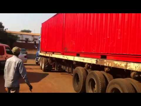 MALAWI SCHOOL BUILD - Trucks arrive!