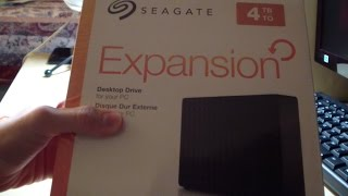 Seagate Expansion Desktop External Hard Drive UNBOXING 4tb