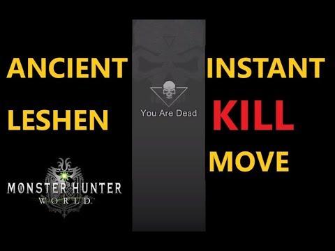 Ancient Leshen Instant Kill Move. Monster Hunter World x Witcher 3. thumbnail