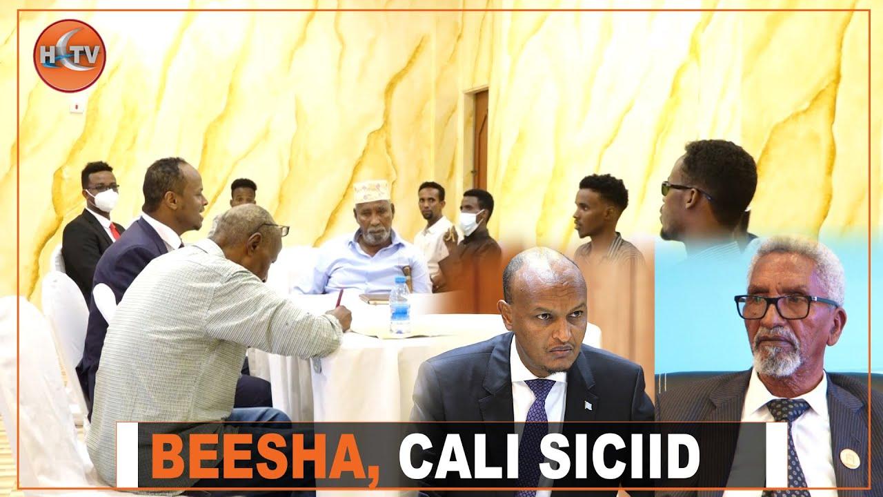 Download Odayaasha, wax-garadka iyo Haween Beesha Cali Siciid kulan cabasho ah ku qabtay Muqdisho.