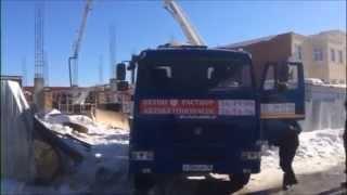 Доставка бетона г. Ижевск(Доставка осуществлялась на объект возле ТЦ