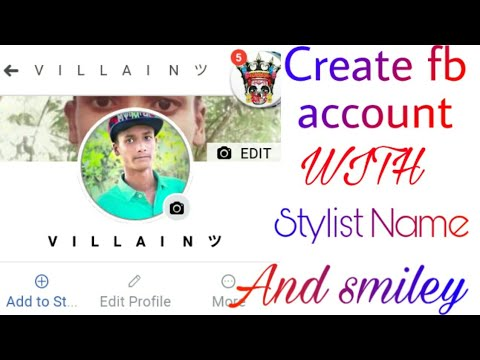 How To Create Stylish Name Fb Account By Vaillain Teams || Sharifulislam😎😎
