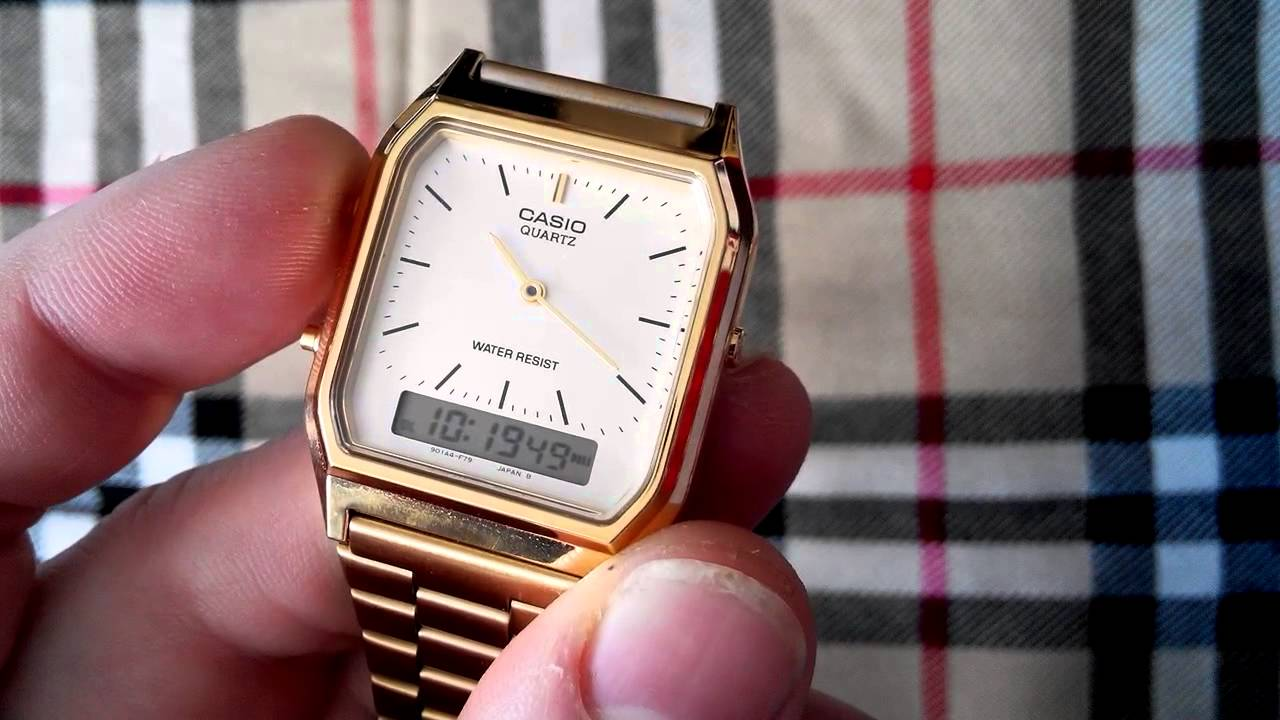 7e72e857601 CASIO AQ230 GA . Vintage style watch. - YouTube