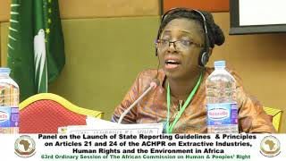 Day 3 - #ACHPR63 - State Reporting Guidelines and Principles on Extractive Industries thumbnail