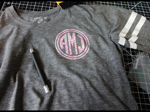 How to work with Printed Heat Transfer Vinyl