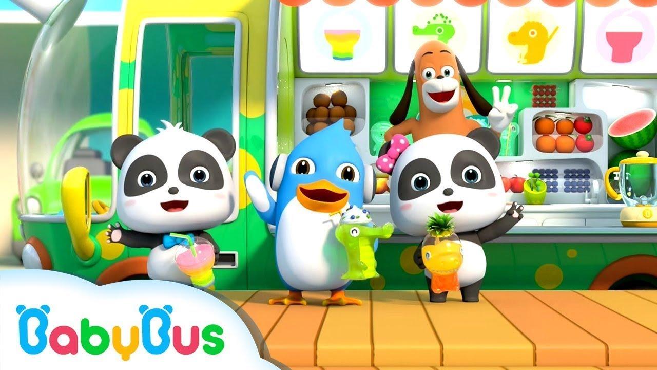 น้ำผลไม้แสนอร่อย   มาดื่มน้ำผลไม้หลากหลายสีกัน   เพลงเด็ก   เบบี้บัส   Kids Song   BabyBus