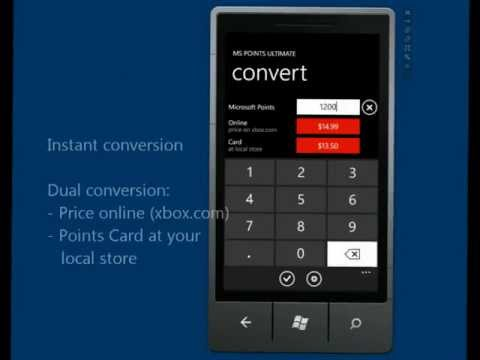 Calculate Microsoft Points value using this converter for Windows Phone 7 - MS Points Ultimate